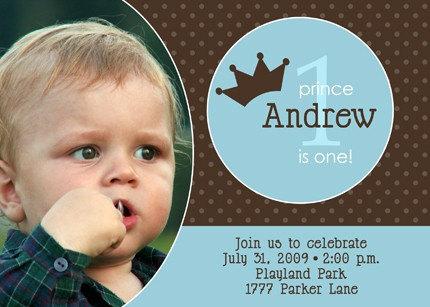 Prince - Photo Birthday Invitation
