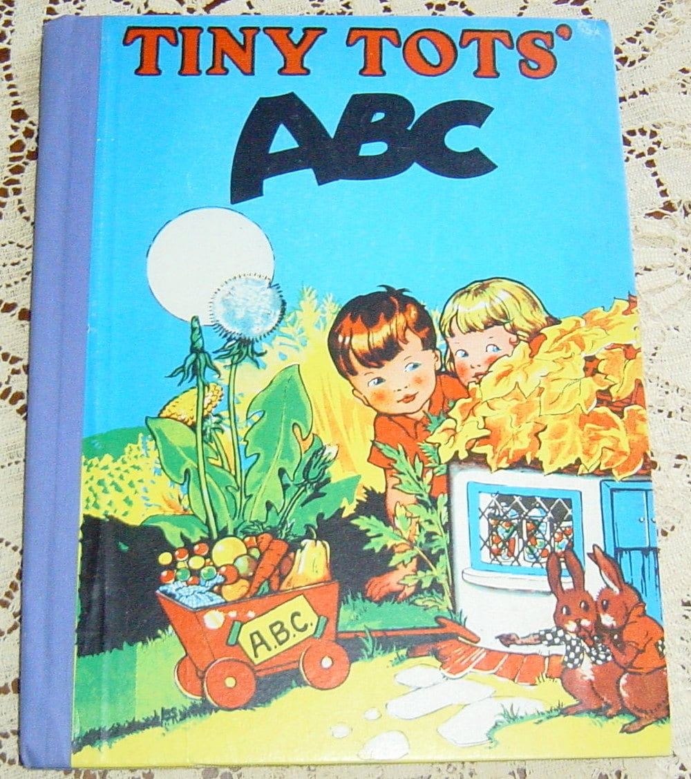 Antique Vintage 1950s Childrens ABC Tiny Tots Storybook