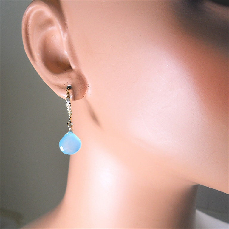 BIG SALE 15 off TODAY Shining Blue Aqua by YOURDAILYJEWELS on Etsy
