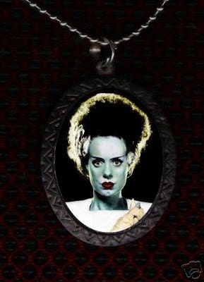 Green Bride of Frankenstein Horror DIY Necklace Gothic Emo Cool