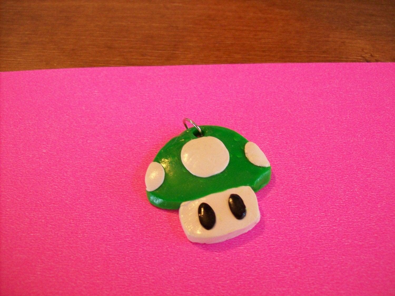 Mario Mushroom Necklace (Green)