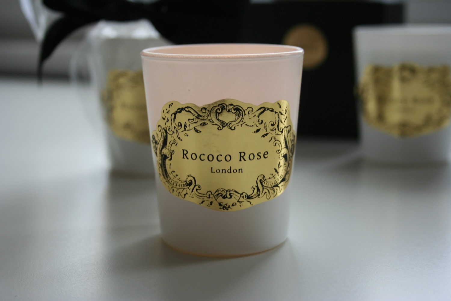 Villiers Handmade Soy Container Votive Candle - Mimosa Scent - RococoRoseLondon