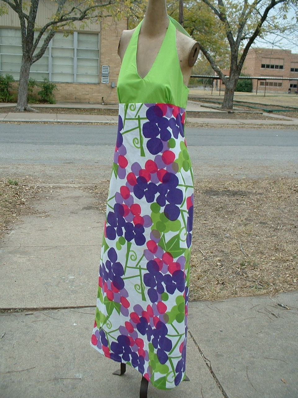 Halter maxi dress with awesome fabric
