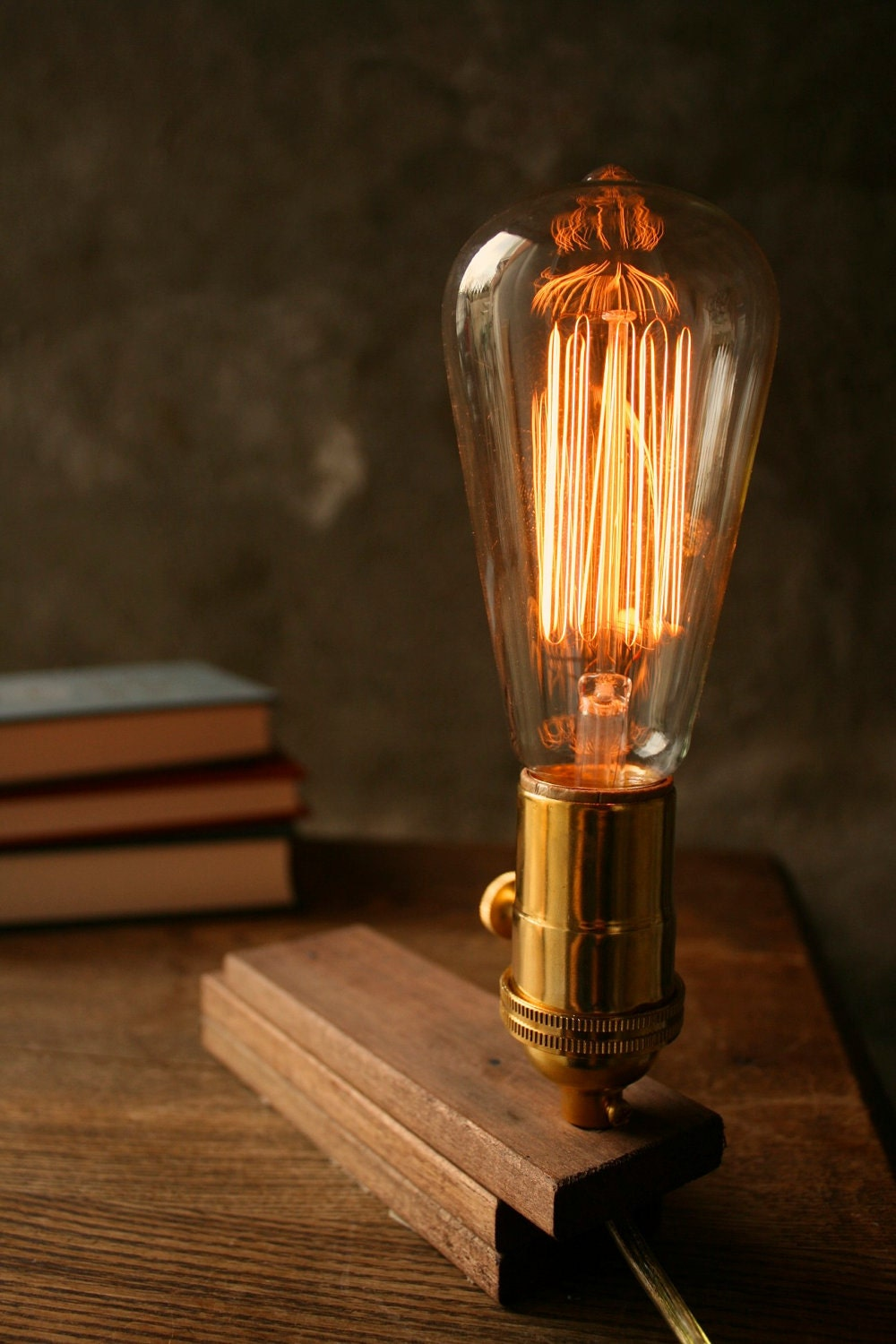 Items Similar To Cool Gifts For Men Wood Lamp Diy Book