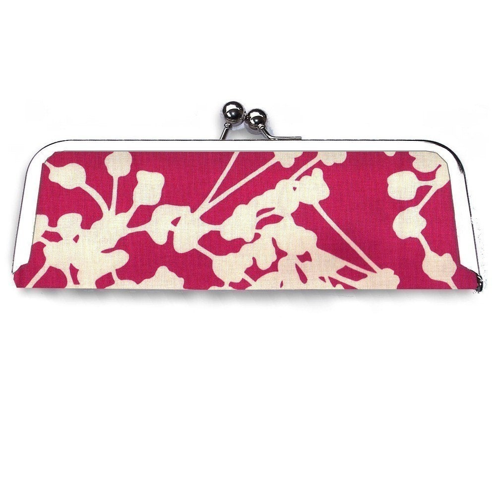 Pink and Cream Pods Frame Clutch Wallet