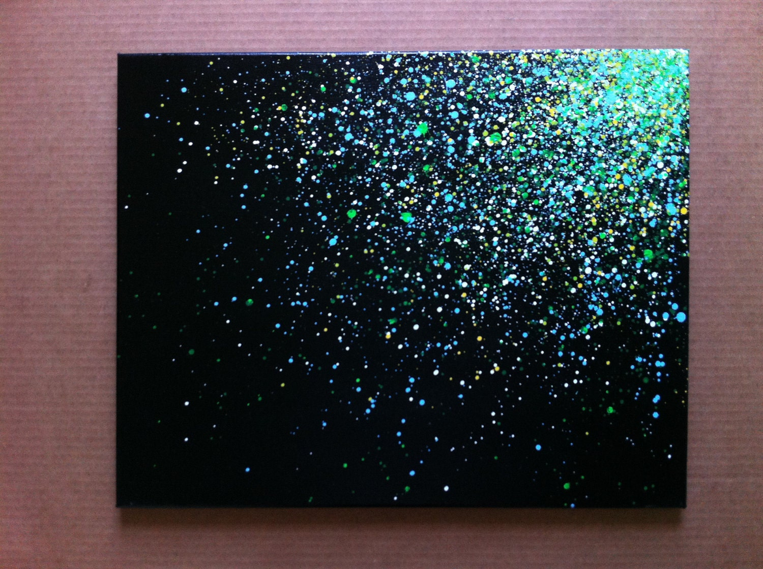 16x20 paint splatter canvas by easerr on etsy for Paint to canvas