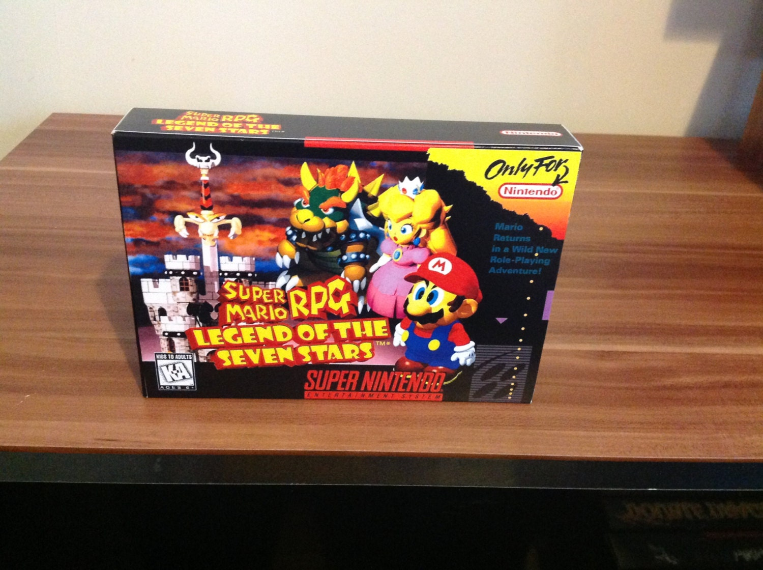 SNES Super Mario RPG  Legend of the Seven Stars   Repro Box and Insert No Game Included