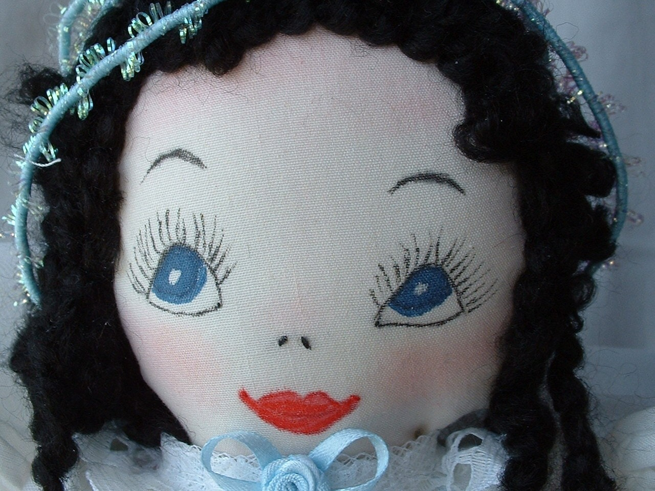 Sarah Spring Angel an 18 inch Original OOAK Cloth Doll - 1st in a Series of 4