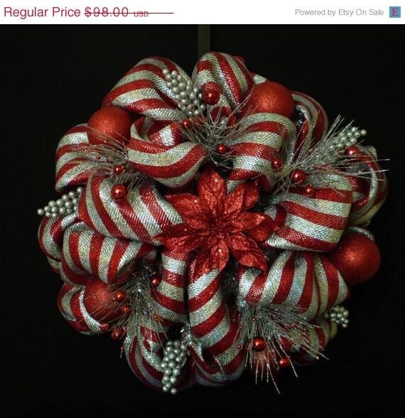 15 off sale christmas wreath poly deco mesh by wreathsbyrobin