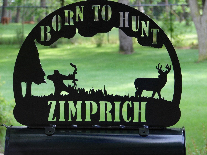 bow hunter mailbox topper address sign home decor by artbyjack