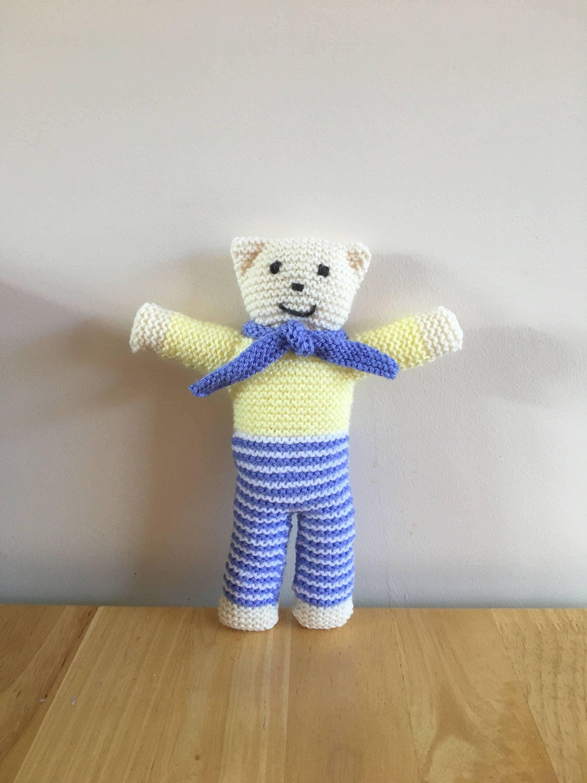 Knitted teddy bear teddy bear childs teddy bear handmade teddy toy teddy bear toy teddy baby showers gift new born gift.