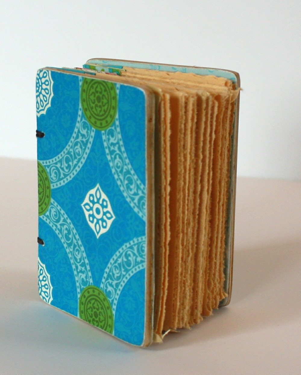 Mini Handmade journal with Coptic Binding