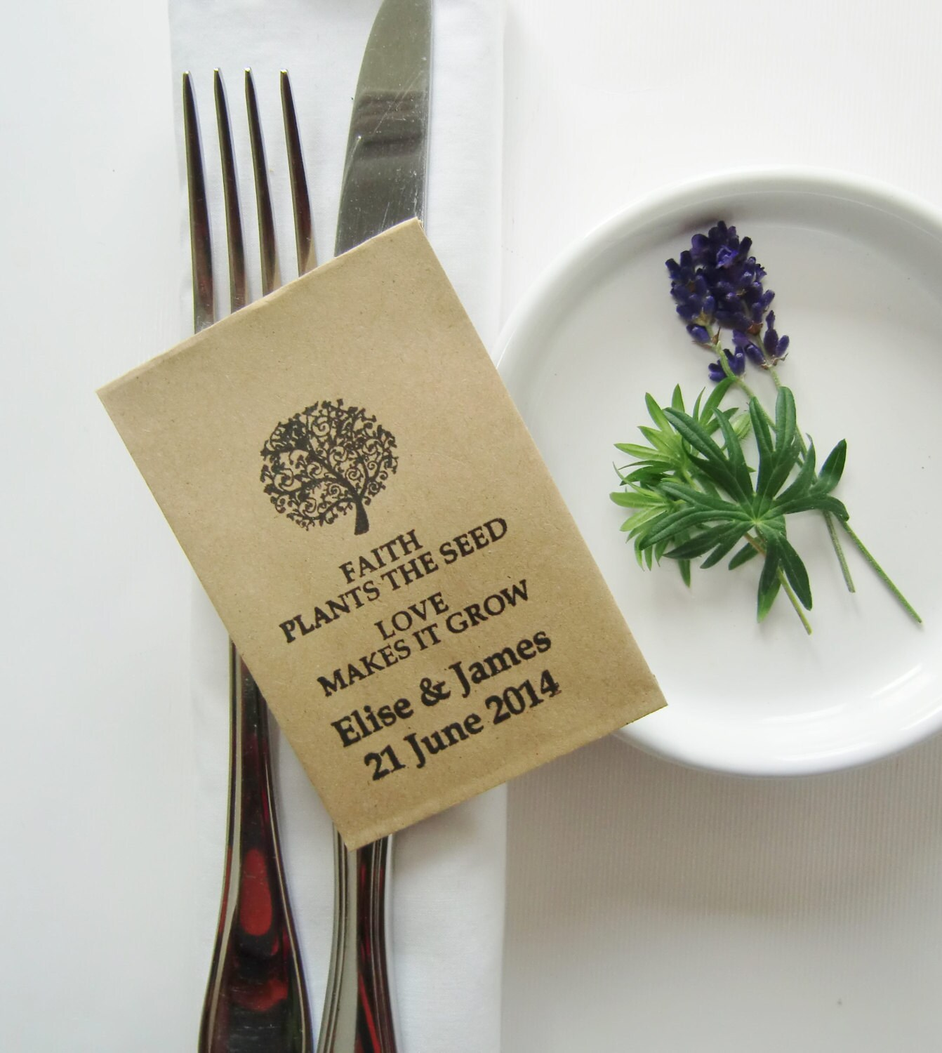 Seed packets wedding