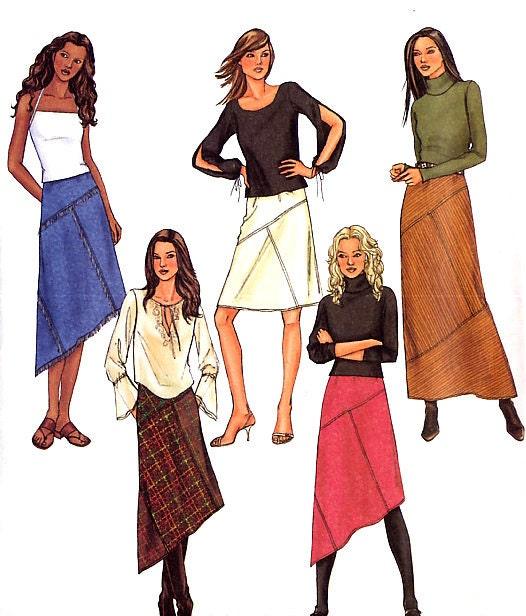womens easy a line skirt sewing pattern by treazureddesignz