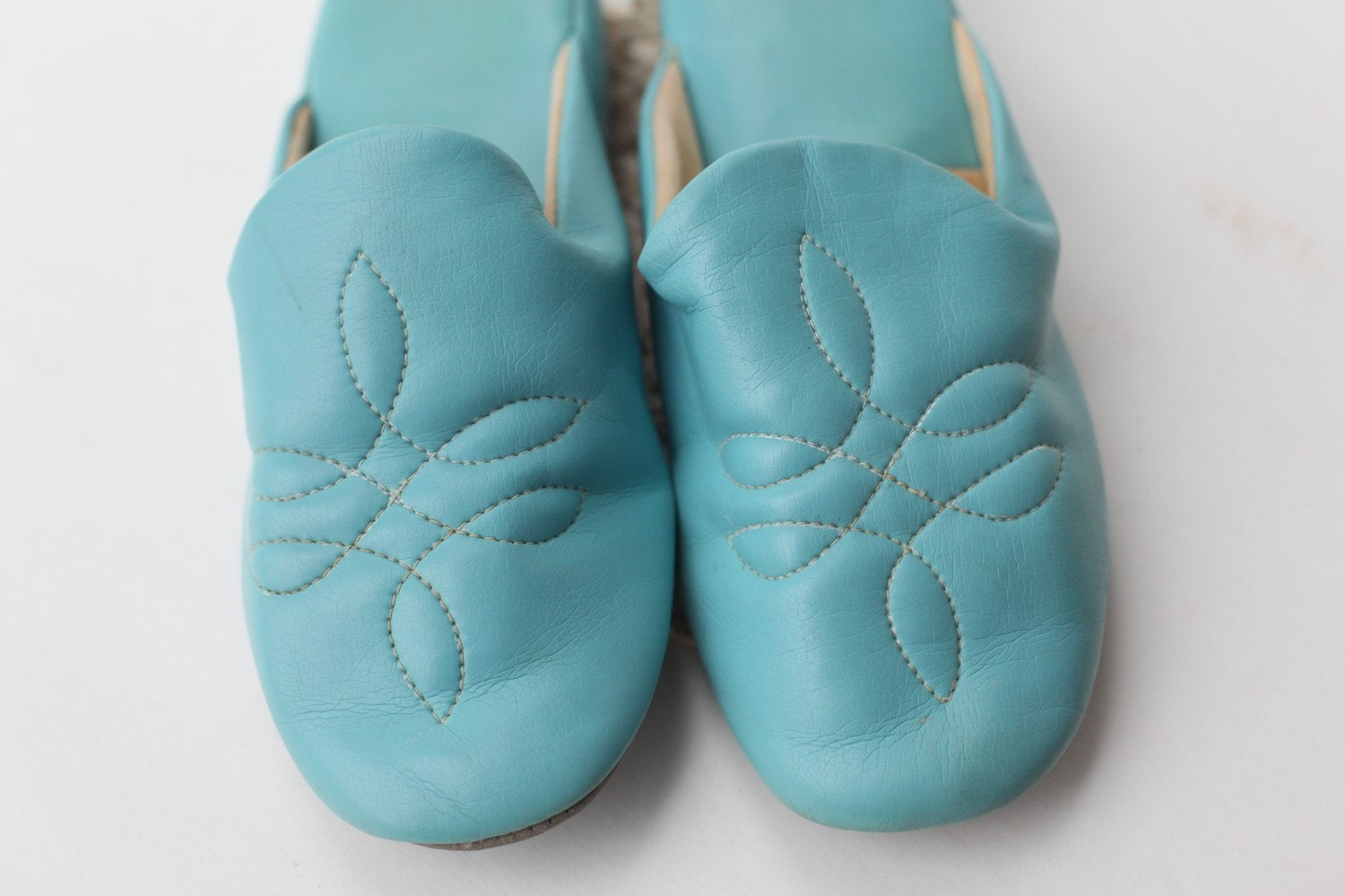 Size 9 turquoise bedroom slippers wedge heel by - Ladies bedroom slippers with heel ...
