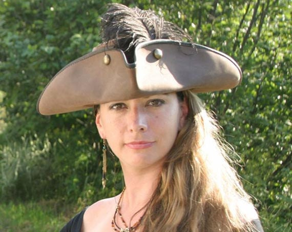 Tricorne Leather Hat - MarcoSteel