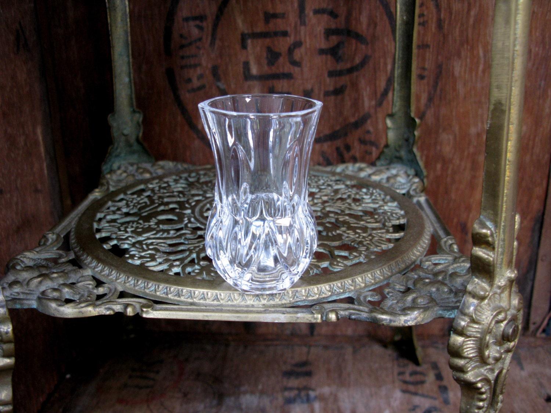Cut Glass Vase Vintage Glass Tiny Vase Glass Vase Small Flower Vase Small Vase Bud Vase Posy Vase Posy Holder Sparkly Glass