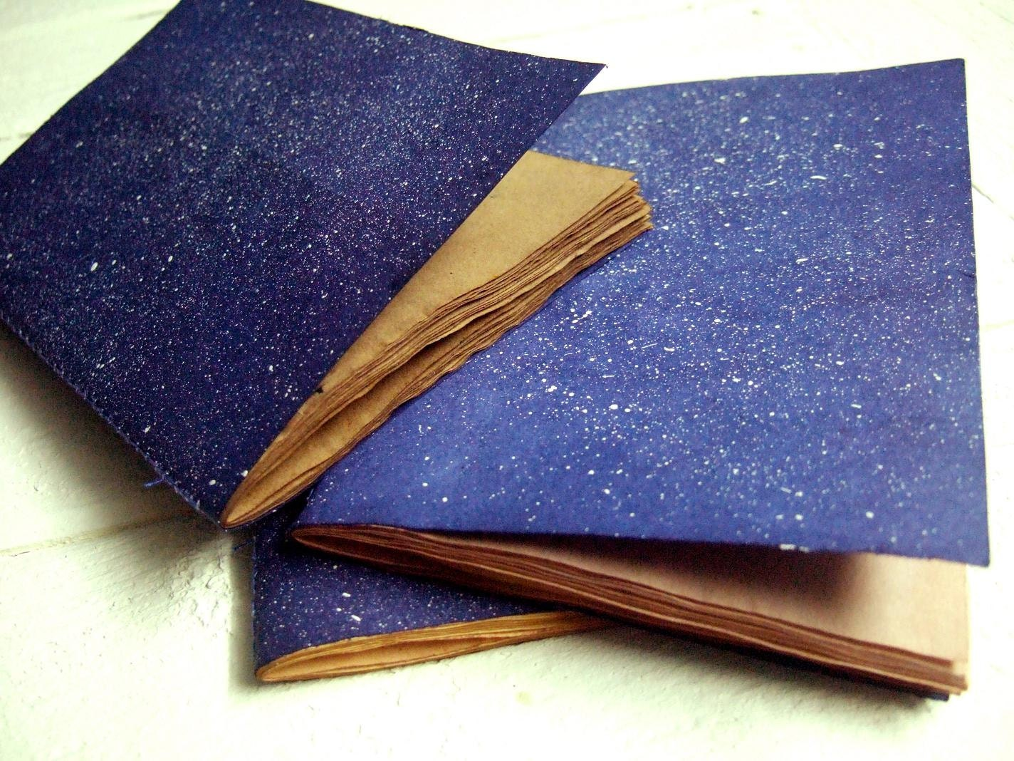 Cosmos - Jotter, Pocket Notebook, Mini Journal with antique paper - Patiak