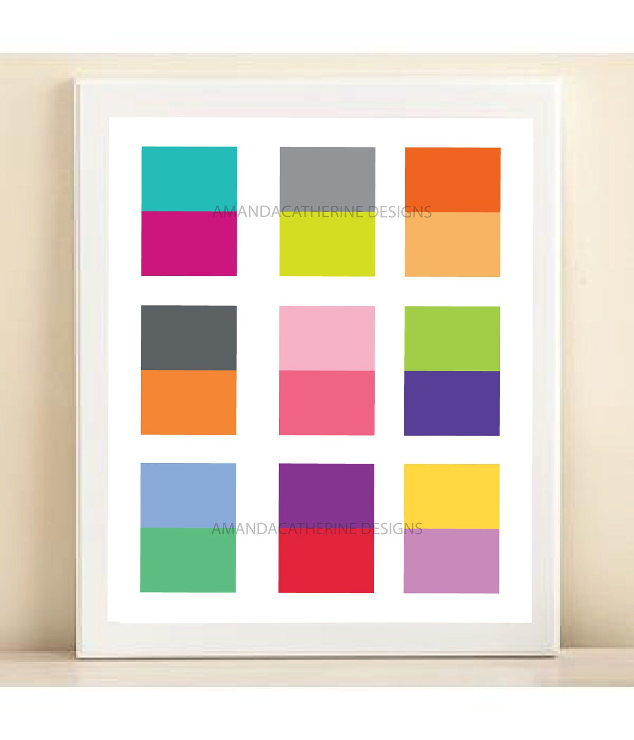 Color Block print poster