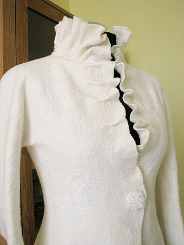 Glamorous & elegant bridal felted jacket - soft as cashmere