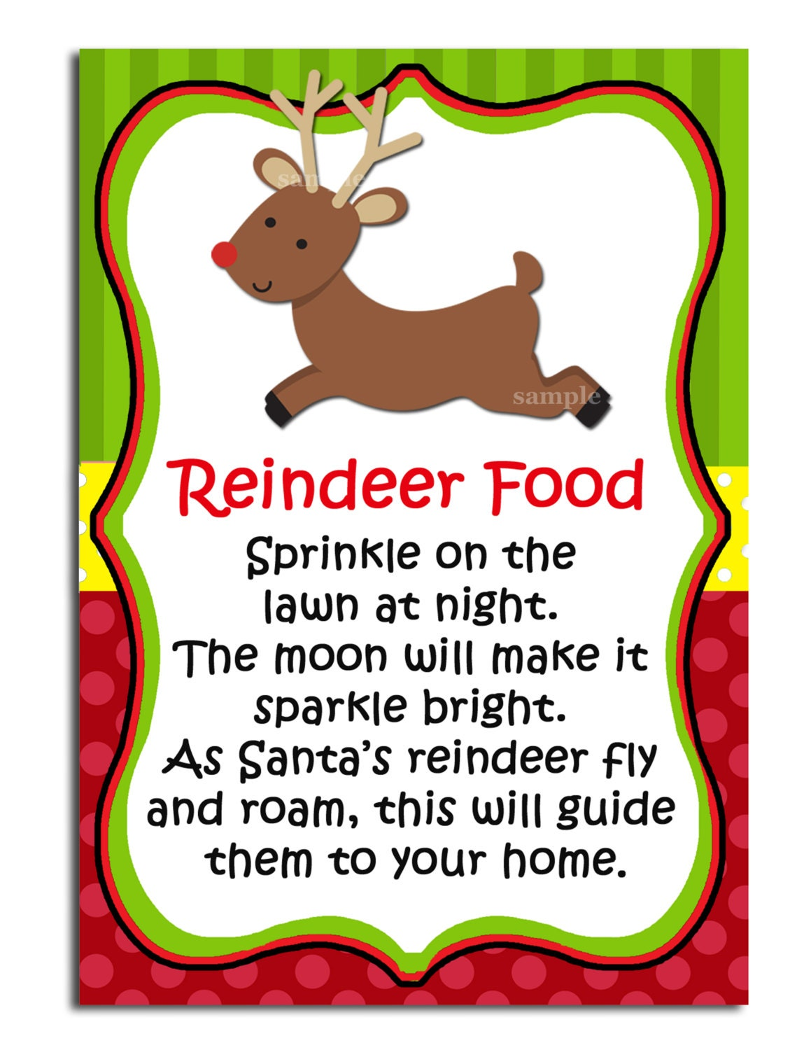 Eloquent image with regard to reindeer food labels printable