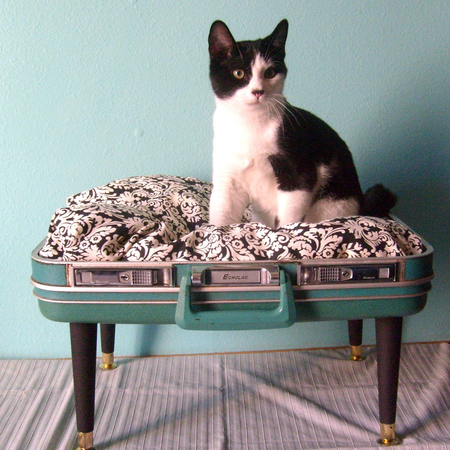 Vintage Suitcase Cat Bed | Luggage And Suitcases
