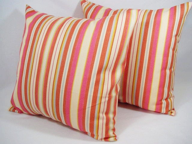 Hot Pink And Orange Throw Pillows : Unavailable Listing on Etsy