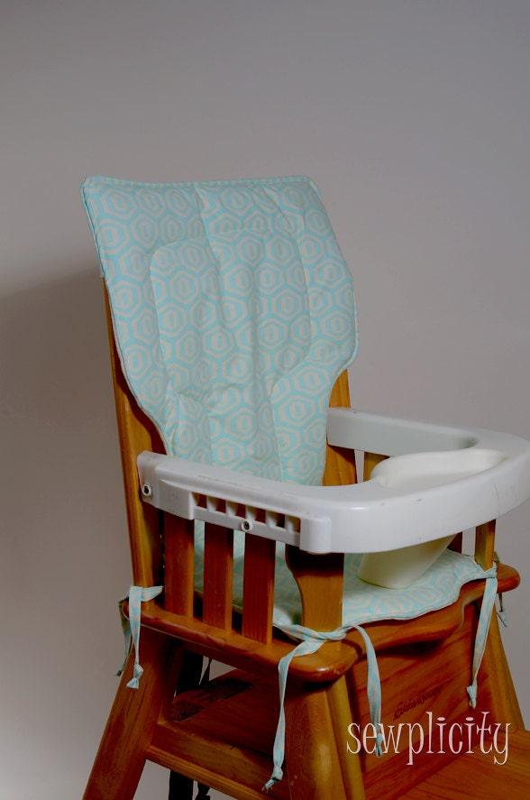 Eddie bauer high chair cover honeycomb aqua by sewplicity