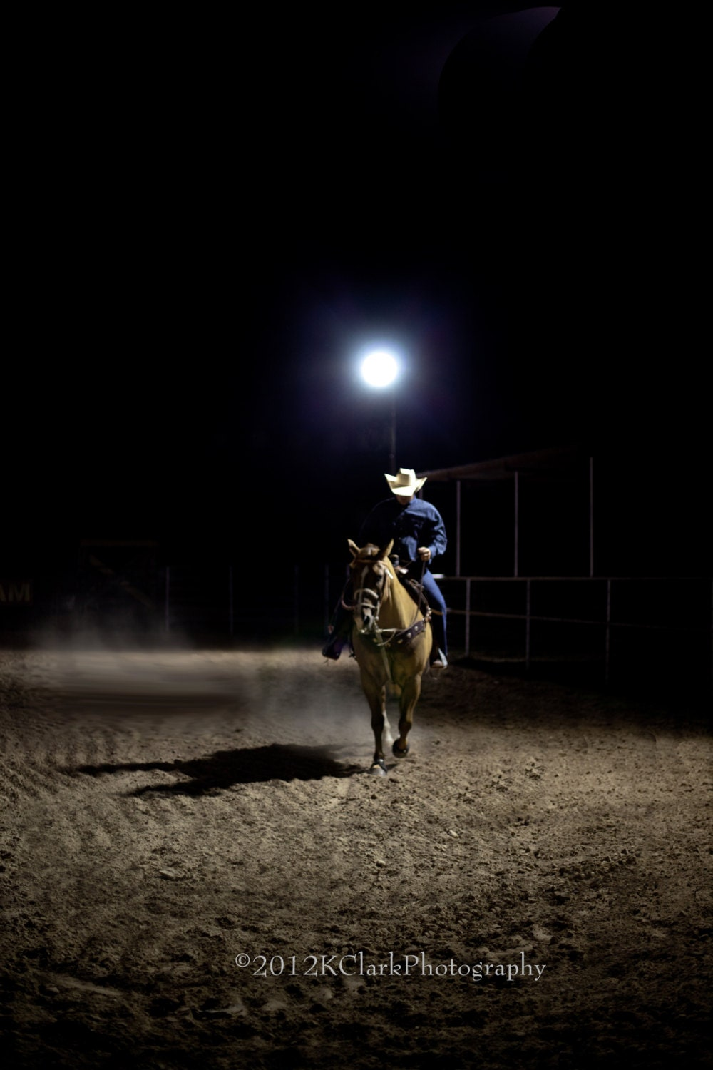 Rodeo Cowboy Western Art Photography Lonesome Horse By