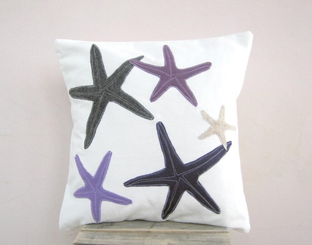 Морская звезда бросить подушку фиолетовый, серый, лиловый, и сливы