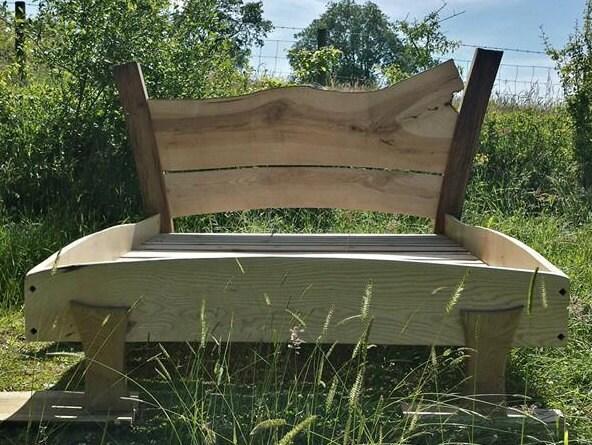 Welsh Oak  Ash Double Bed Custom Made