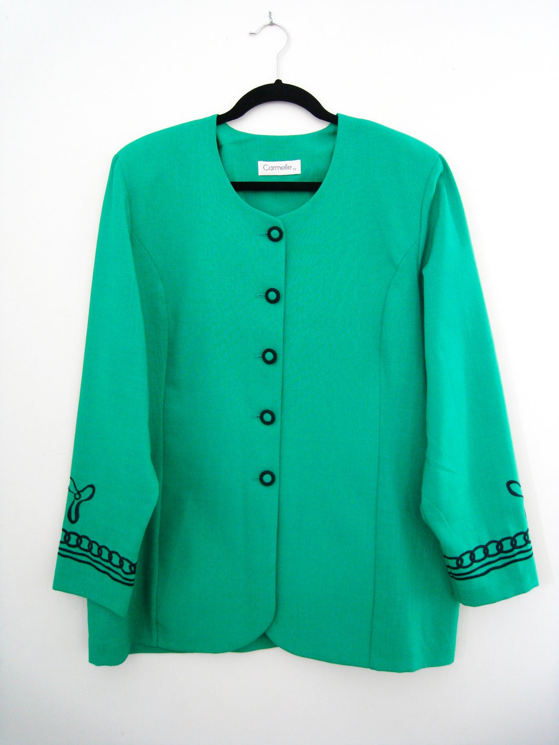 Vintage embroidered jacket womens blazer by