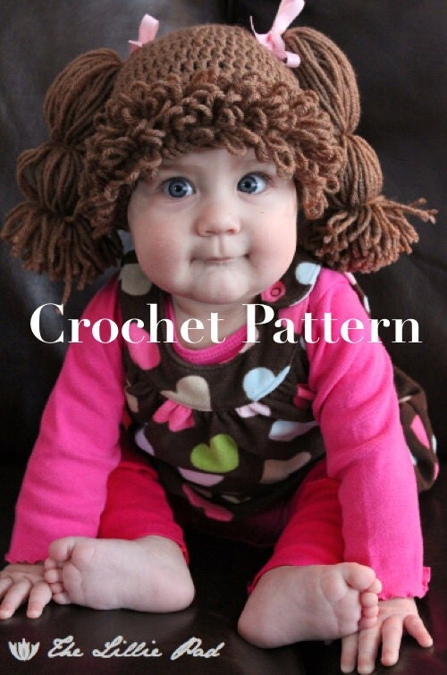 Free Pattern Crochet Cabbage Patch Hat : Cabbage Patch Kid Inspired Hat Crochet PATTERN for by ...