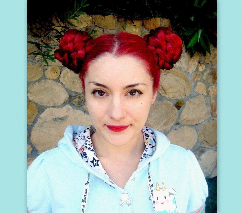 kawaii wig hair accessories Braid hair extension chignon bun cover Bjork