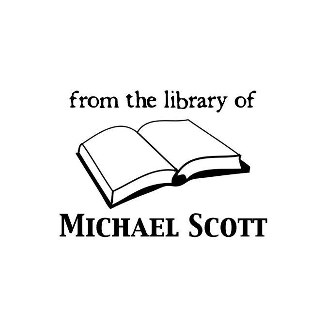 Custom From the Library Of Personalized Rubber Stamp - Michael
