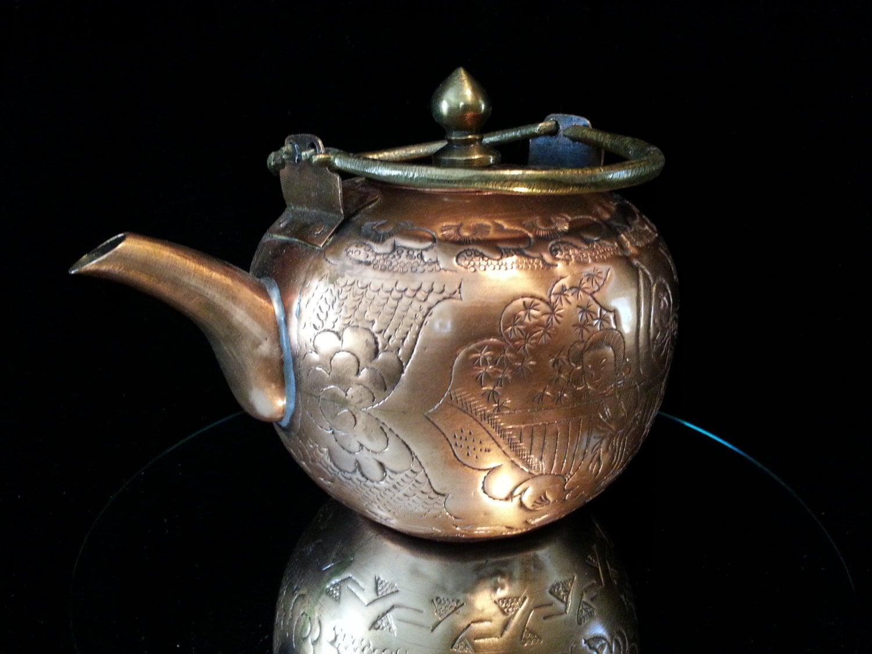 antique copper tea kettle : Target