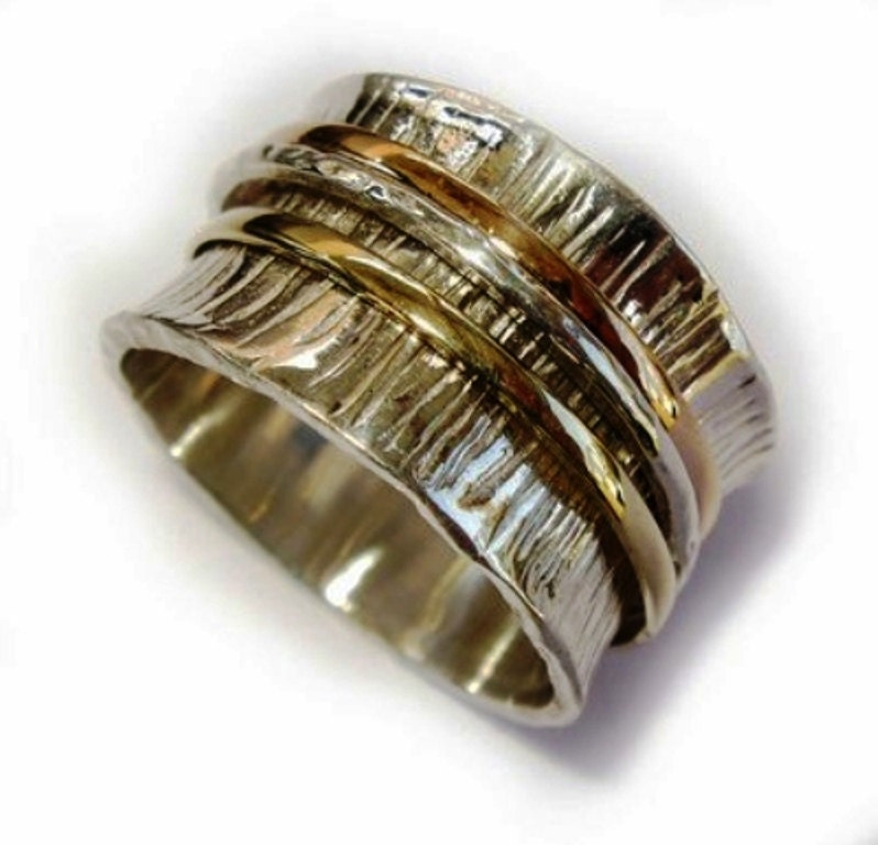 spinner spinning ring silver gold designer by