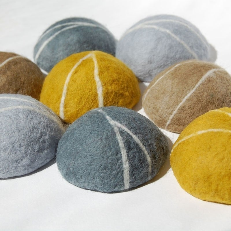 Yellow Pebble ( Felted  Lemon Verbena Soap )
