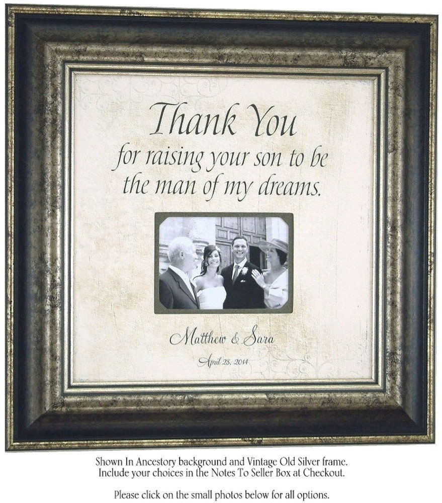 Thank You Wedding Gifts For Mum : Wedding Gift To Groom Parents, Thank You For Raising The Man of My ...