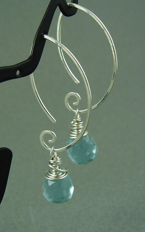 Lavender Leaf Drop Earrings in Sterling Silver...In the Garden...Handmade by Fallingleafjewelry on Etsy