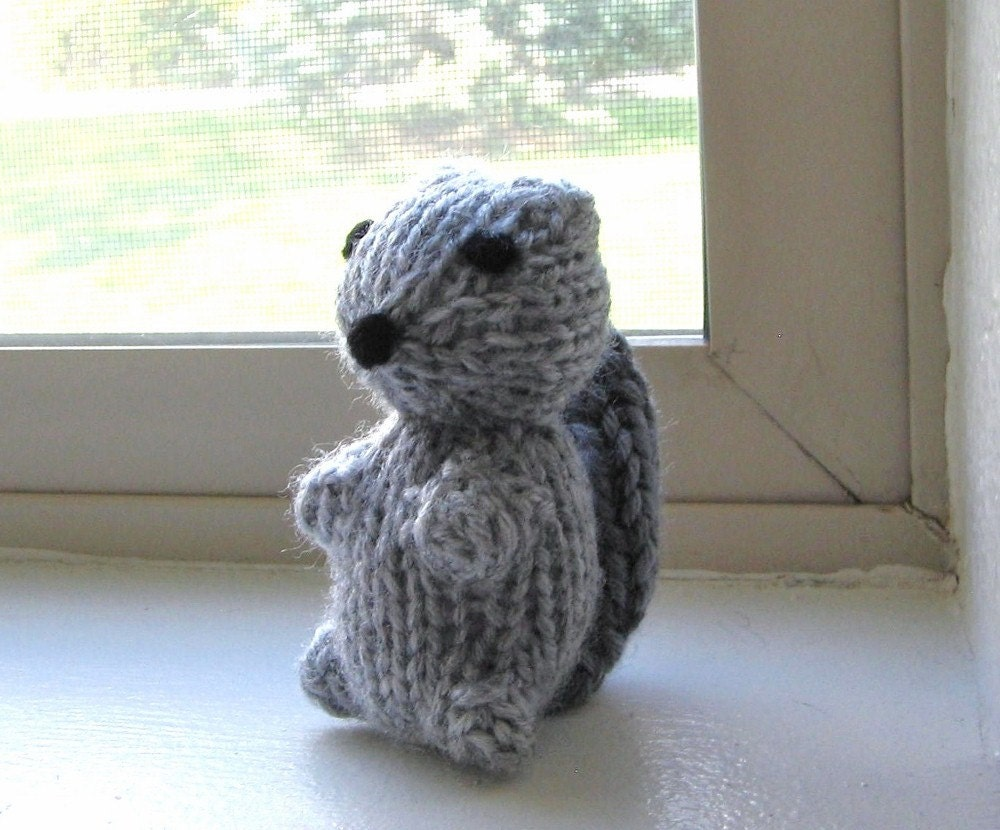 Amigurumi Knitted Animals : Squirrel Amigurumi Hand Knitted Stuffed Animal by VeryCarey
