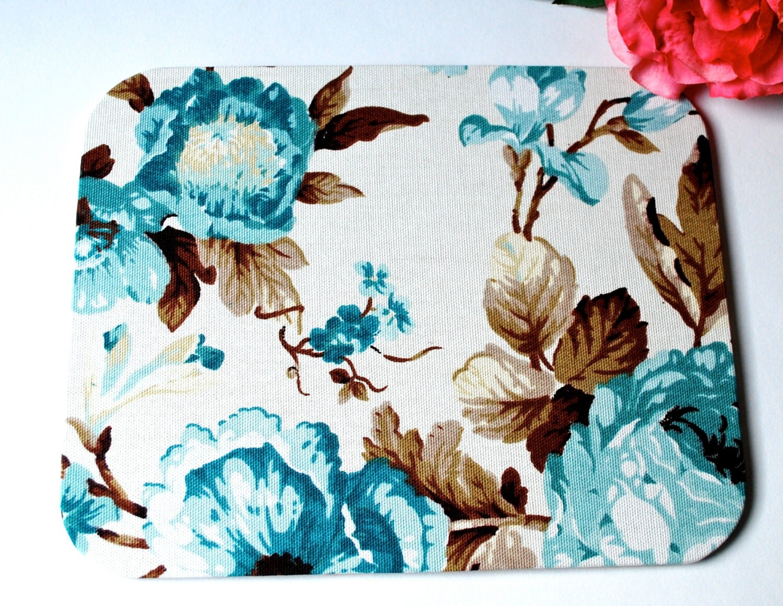 "Mousepad ""Fleur"", coasters, drop, hand made - Arsunica"