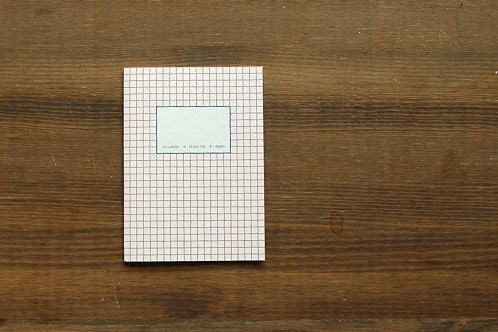 Red Square Basic Line Note - size small