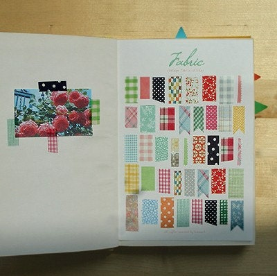 Vintage Fabric Pattern sticker set  (2sheets)