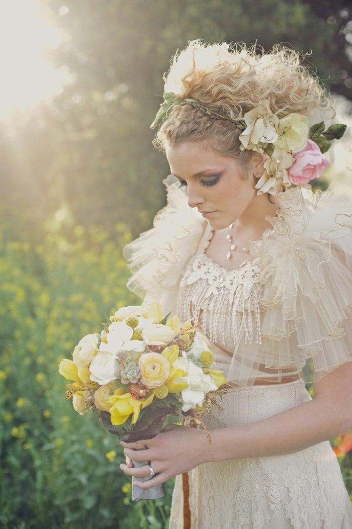 Bridal hair piece, wedding hair accessories, weddings, rustic wedding, barn wedding, spring wedding, summer wedding, dramatic