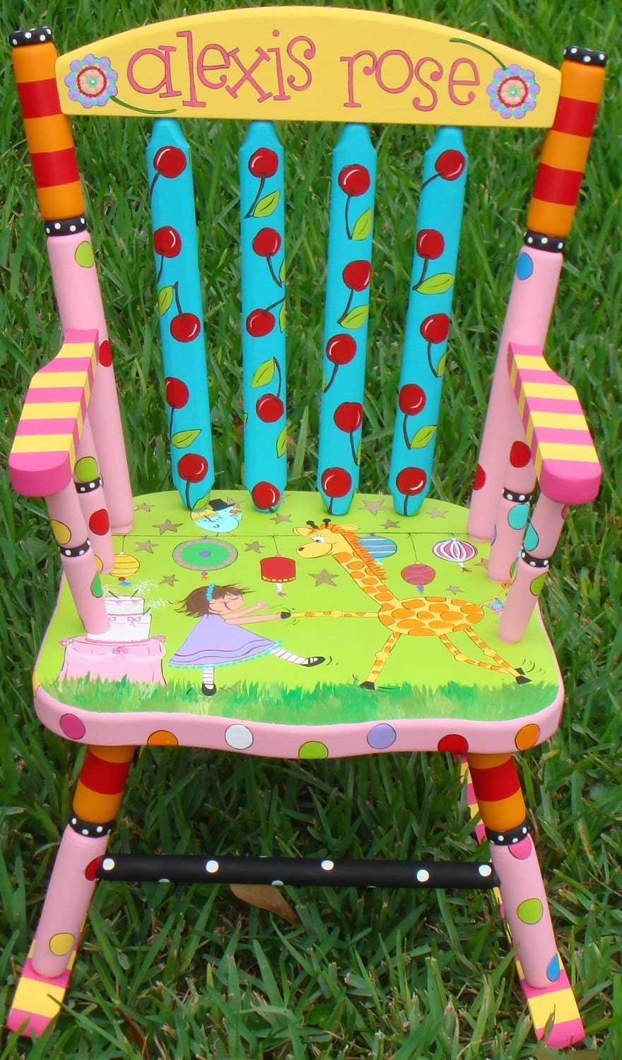 A Custom Painted Rocker Just For You  FREE SHIPPING