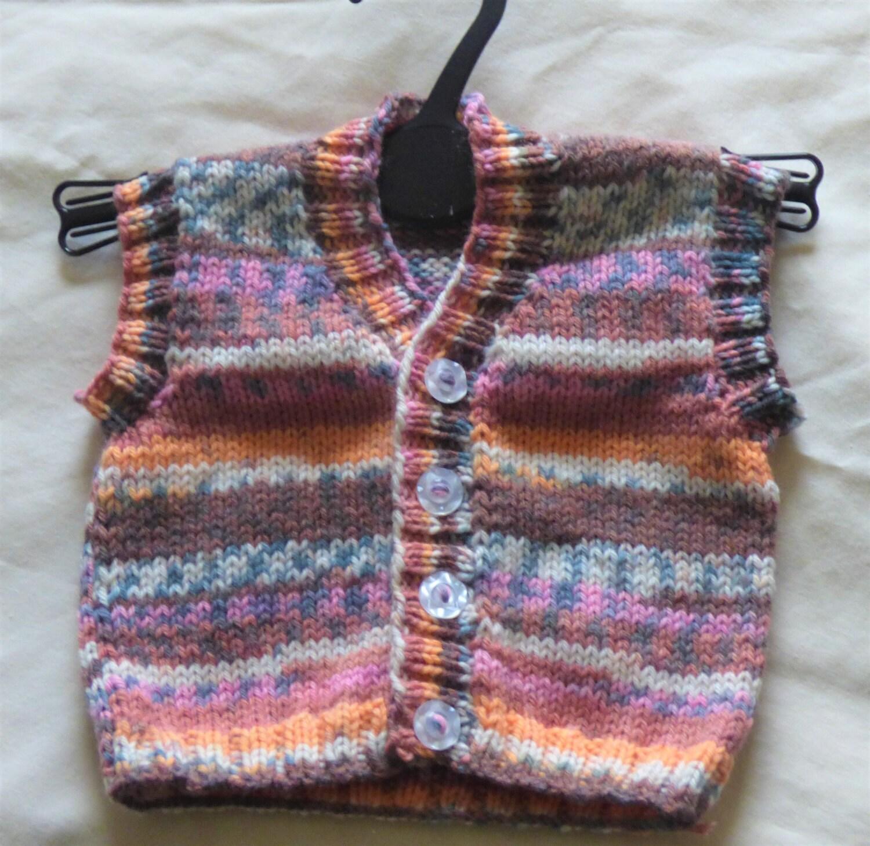 Fairisle Baby Waistcoat Baby Boys Waistcoat Baby Boys Sleeveless Top Baby Multicoloured Waistcoat Baby Buttoned Waistcoat