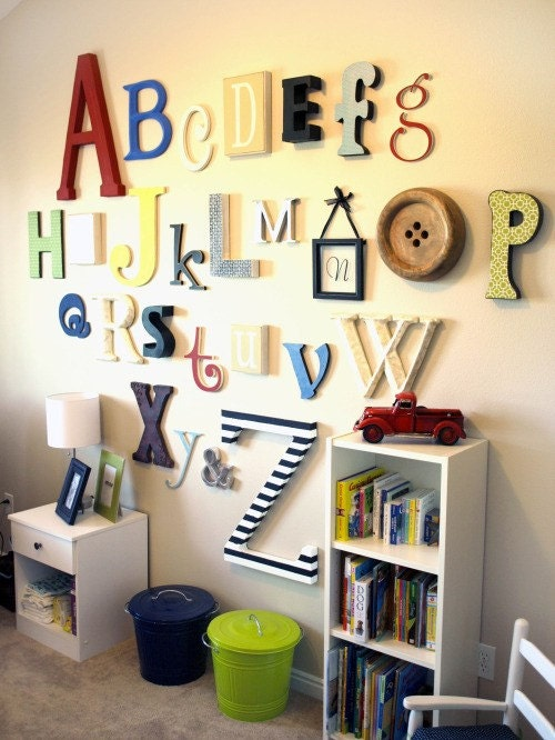 "Alphabet Set -Wooden Letters -Unfinished 12"" to 6"" letters various thicknesses"
