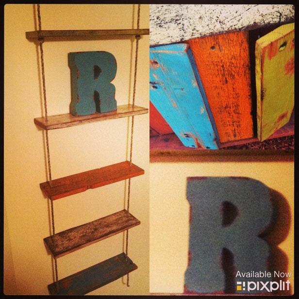 Reclaimed ladder shelf by rossalanreclaimed on etsy - Reclaimed wood ladder shelf ...