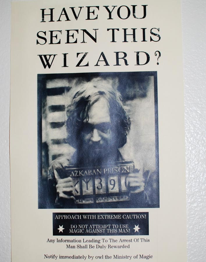Items similar to Wanted Poster Party Prop - Sirius Black Perfect for ...